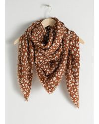 & Other Stories - Leopard Wool Scarf - Lyst