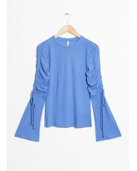 & Other Stories - Drawstring Bell Sleeve Blouse - Lyst