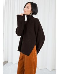 & Other Stories - Oversized Side-slit Turtleneck - Lyst