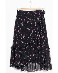 & Other Stories - Floral Ruffle Midi Skirt - Lyst