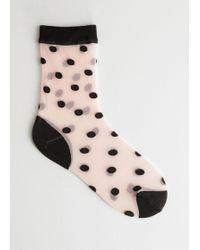 & Other Stories - Sheer Polka Dot Socks - Lyst