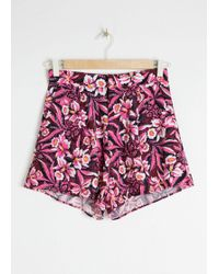 & Other Stories - Orchid Print Shorts - Lyst