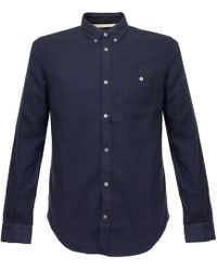 Norse Projects | Osvald Brushed Navy Shirt N40-0348 | Lyst