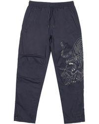 Maharishi Stencil Tiger Trousers - Blue