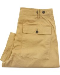 Universal Works - Fatigue Twill Sand Trousers - Lyst