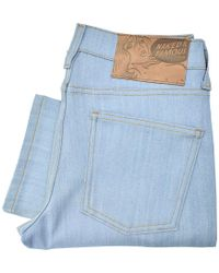 Naked & Famous - Naked And Famous Skinny Guy Sky Blue Denim Jeans - Lyst