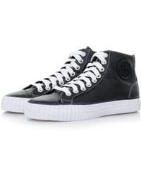 PF Flyers | Centre Hi Leather Black Shoes | Lyst