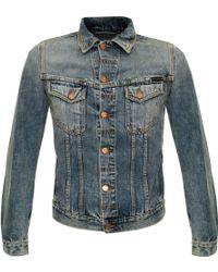 Nudie Jeans - Billy Shimmering Indigo Denim Jacket - Lyst