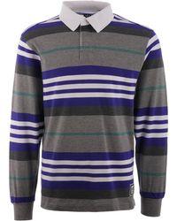 adidas Originals - Cleland Stripe Rugby Shirt - Grey - Lyst