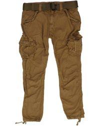 Schott Nyc - Camel Trousers - Lyst