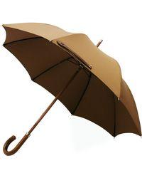 London Undercover Leather City Lux Khaki Umbrella