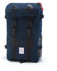 Topo Designs - Topo Design Kettlesack Navy Black Leather Backpack - Lyst
