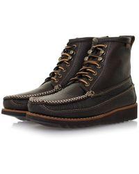 G.H.BASS - Ranger Moc Ii Dark Brown Boot Ba13451044 - Lyst
