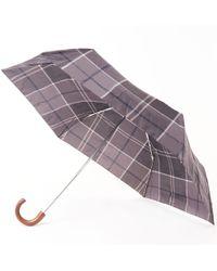 Barbour Tartan Mini Umbrella - Black