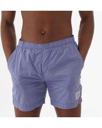 15c1fcd13f Franklin & Marshall Beachwear Logo Swim Shorts Blue in Blue for Men - Lyst
