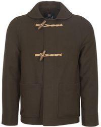 Gloverall - Khaki Shawl Collar Coat - Lyst