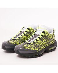 Nike - Air Max 95 Prm - Black, Volt, Ash & White - Lyst