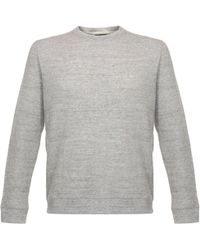 Naked & Famous - Naked And Famous Vintage Double Face Grey Sweatshirt - Lyst