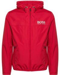 BOSS - Red Jeltech Jacket - Lyst