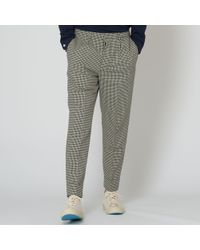 AMI - Houndstooth Pleated Carrot Fit Trousers - Lyst