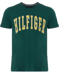 Tommy Hilfiger - College Logo T-shirt - Rainforest - Lyst