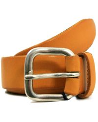 Andersons - Andersons Mustard Leather Belt - Lyst