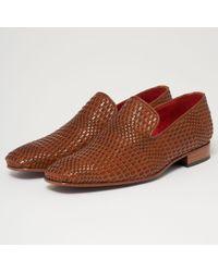 Jeffery West - Kenda Honey Leather Loafers - Lyst
