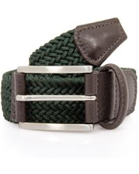 Andersons - Anderson's Woven Green Belt B0067 Af2949 Ne37 - Lyst