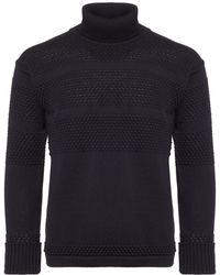 S.N.S Herning - Navy Fisherman Roll Neck - Lyst