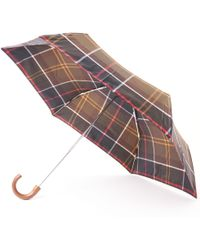Barbour - Tartan Mini Umbrella - Green & Yellow - Lyst