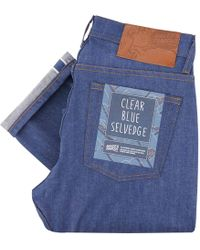 Naked & Famous Weird Guy Clear Blue Selvedge Denim