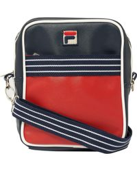 Fila Vintage - Red & Peacoat Trey Flight Bag - Lyst