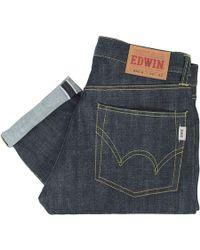 Edwin Nashville Red Listed Selvage Denim - Unwashed - Blue