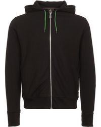 PS by Paul Smith - Black Organic-cotton Zip-front Hoodie - Lyst