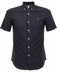 Farah - Brewer Ss Navy Shirt - Lyst