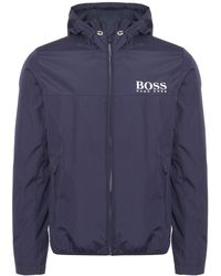 BOSS Athleisure - Navy Jeltech Jacket - Lyst