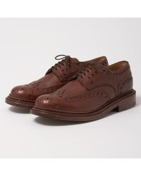 GRENSON | Archie Triple Welt Brown Grain Brogue Shoe | Lyst