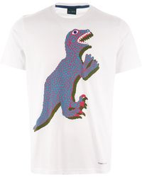 PS by Paul Smith - Dino Print T-shirt - White - Lyst