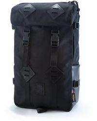 Topo Designs - Topo Design Kettlesack Ballistic Black Leather Backpack - Lyst