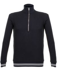 Orlebar Brown - Hewson Waffle Navy Pullover 26503 - Lyst