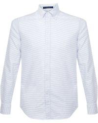 B.D. Baggies - Bradford Striped Button Down Shirt - White - Lyst