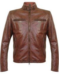Matchless - Osborne Burgundy Leather Jacket 113100 - Lyst