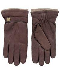 Dents - Bark Deerskin Gloves - Lyst