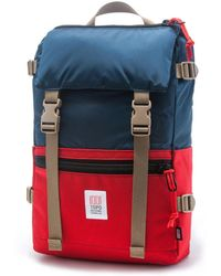 Topo Designs | Topo Design Rover Pack Navy Red Backpack | Lyst