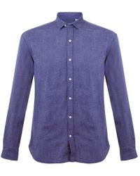 Oliver Spencer - Clerkenwell Tab Lupin Blue Shirt - Lyst