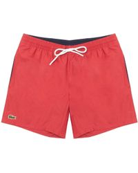 Lacoste - Intense Red Swimming Shorts - Lyst