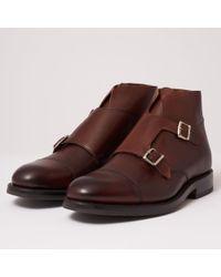Grenson - Hansel Double Monk Strap Boot - Dark Brown - Lyst