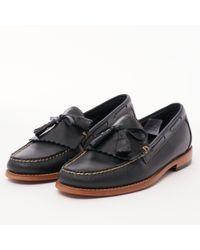 G.H.BASS - Layton Pull Up Kiltie Loafers - Navy - Lyst