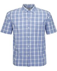 Universal Works - Road Beach Blue Shirt - Lyst