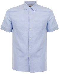 PS by Paul Smith - Paul Smith Linen Light Blue Shirt Psxd- - Lyst